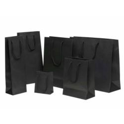 Vollton-Papiertragetasche schwarz