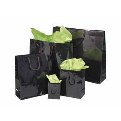 Schwarze Papiertaschen Glanzplastifiziert