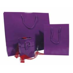 Lackpapier-Tragetaschen violett glänzend