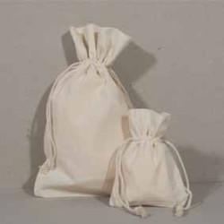 Baumwollbeutel: Kordelzugbeutel aus natürlicher Baumwolle