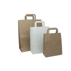 Kraftpapiertaschen mit flachen Griffen