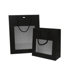 Schwarze Fenstertragetaschen