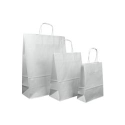 Taschen weiß aus Kraftpapier