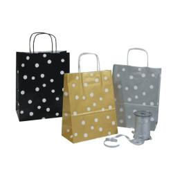 Taschen mit Punkten in gold silber schwarz und rot