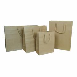 Ökologische Kraftpapiertasche mit Kordelgriffen