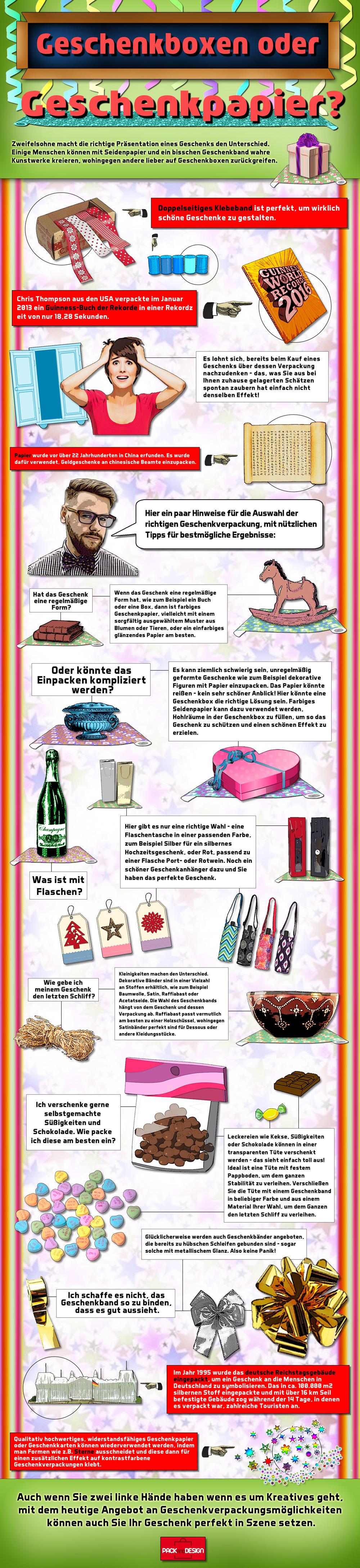 Geschenkboxen oder Geschenkpapier